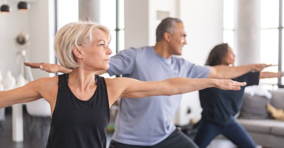 Older adults do tai chi exercises